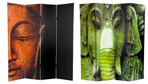 room partitions. Double Sided Buddha And Ganesh Canvas Room Divider Partitions