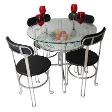 axel dining table for 4 wood glass dining set pic3