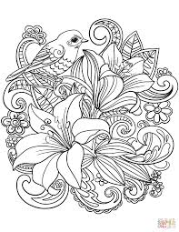 bargain flower coloring sheets skylark and flowers page free printable pages