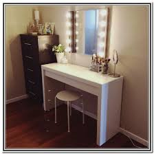 stylish table vanity mirror with lights and desk throughout plan 7
