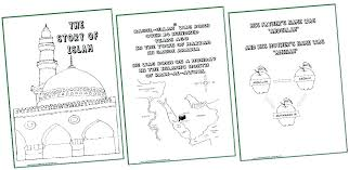 Islamic Coloring Pages Printable Mosque Drawing For Kids At Free