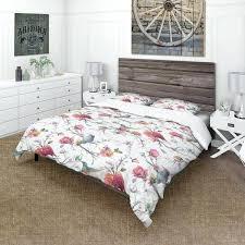 bird print quilt cover vintage pattern flowers leaves farmhouse duvet set bird print duvet set