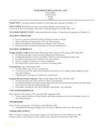 Resume Examples For Teachers With Experience Graduate Research