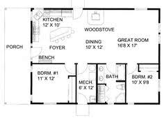 Tiny house  Tiny house plans and House plans on Pinterest square foot one story floor plan   square feet  bedrooms
