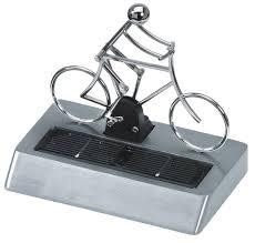 solar powered aluminium cyclist