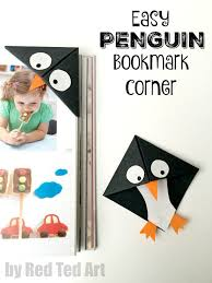 this penguin bookmarks are a wonderful introduction to origami a great beginners project and super cute we love the book corner and they make great gifts