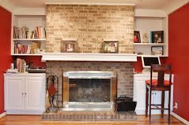 decorations contemporary white painted mantel decorating with plaid stone fireplace ans white painted storage added