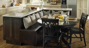 kitchen island with bench seating. Solid Wood Kitchen Island With Bench Seating