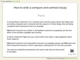 comparison essay thesis example examples of comparison essay comparison contrast essay paragraph