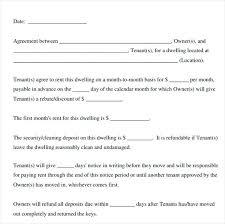 Simple Rental Agreement Sample Tenant Lease Printable Renters Free