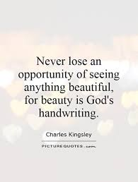 Quotes About Seeing Beauty Best Of Never Lose An Opportunity Of Seeing Anything Beautiful For