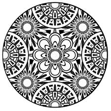 Small Picture Coloring Page Mandala Instant PDF Download Printable Coloring