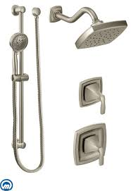 moen 435 chrome pressure balanced shower system with rain shower moen shower system