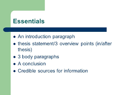 persuasive essay writing by sam nusbaum essentials an 2 essentials an introduction paragraph thesis statement 3 overview points in after thesis 3 body paragraphs a conclusion credible sources for information