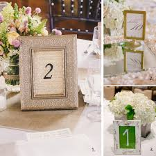 wedding table numbers in frames