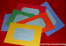 Over Sized Index Card Holders Bright Colors Tactile Edges
