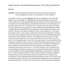 the significance of power in macbeth gcse english marked by  document image preview