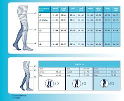 Ted Hose Size Chart Sigvaris Size Charts Compression Stockings