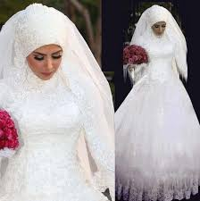2017 latest design top quality islamic wedding dress custom muslim