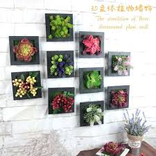artificial plants flowers decorative painting stereo photo frame wall hanging fake home decoration plant uk