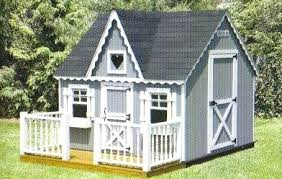 childrens outside wooden playhouses playhouse deck and wood railing outdoor home center