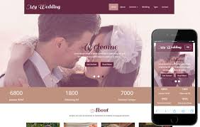 Wedding Website Templates Extraordinary My Wedding A Wedding Planner Flat Bootstrap Responsive Web Template
