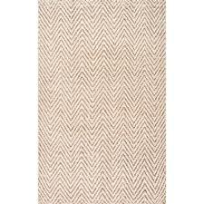 nuloom vania chevron jute bleached 8 ft x 10 ft area rug