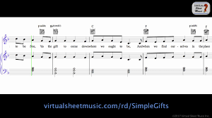 simple gifts sheet s play along thanksgiving