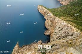 stock photo mirador es colomer place of interest view width scenery coast north coast climate mountains brusquely spain majorca the balearic