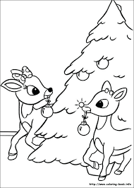 Christmas Reindeer Coloring Pages Slavic Info