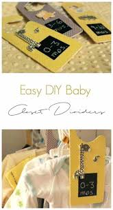 love these baby closet dividers learn how to make clothes with just
