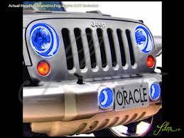 auto lights accessories car led lighting custom bulbs parts shoppmlit oracle 07 16 jeep wrangler blue headlight angel eyes demon halo rings drl headlamp kit