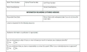 Leave Of Absence Form Template It Absence Record Template Form Inspirational Class