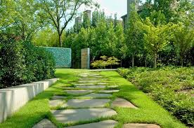 apartment landscape design. Gorgeous Garden Design With Trees Decorating Around Apartment Exterior Also Creative Grass As Floor For Walking Of Visitors Landscape E