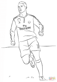 Cristiano Ronaldo Coloring Page Free Printable Coloring Pages