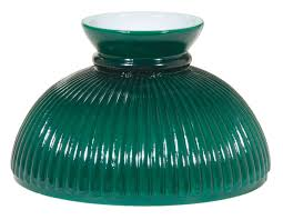 10 opal glass ribbed green student shade