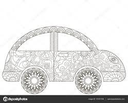 Baby Speelgoed Auto Coloring Boek Vector Voor Volwassenen