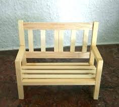 how to make miniature furniture. Miniature Dollhouse Furniture Make How To A Garden Bench .