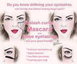 makeup tip eyes look larger define eyelashs