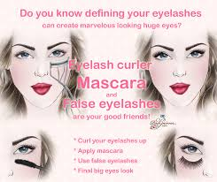 makeup tip eyes look larger define eyelashs