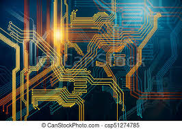 Digital Circuit Background Abstract Digital Circuit Background