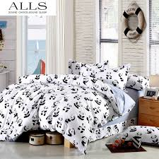 44 best KIDS BEDDING images on Pinterest | Bed linens, Double twin ... & Black and white bedding set Panda 100% cotton bed sheet/bedspread/Duvet  cover Adamdwight.com