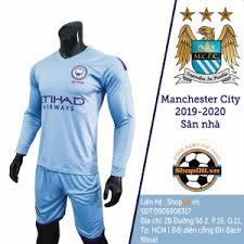Quần áo bóng đá tay dài Manchester City 2019-2020 sân nhà