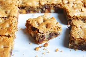 Image result for chocolate chip bars with nuts
