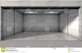 Unfertige Doppelte Garage Mit Einem Fenster Stock Abbildung
