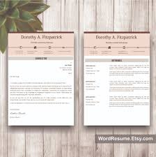 Download Resume Template Creative CV Template With Cover Letter And References Word 66