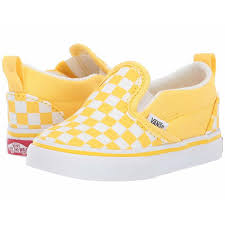 Vans Toddler Size Chart Inches Vans Kids Slip On V Toddler Checkerboard Aspen Gold True