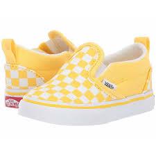 Vans Kids Slip On V Toddler Checkerboard Aspen Gold True