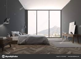 Bedroom side view Unmade Bed Dark Gray Scandinavian Bedroom With Wooden Floor Double Bed And Bedside Table Nice Window View Side View 3d Rendering Mock Up Photo By Depositphotos Panoramic Gray Bedroom Interior Side View Stock Photo