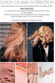 peach blonde hair color formulas by framesi featured colors